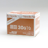 "BD 305106 PRECISIONGLIDE Needle STERILE CONVENTIONAL 30G x 13mm (0.5"") 100/bx (Case of 10)"