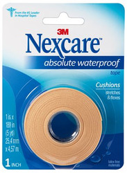 "3M-731 NEXCARE ABSOLUTE WATERPROOF Tape 2.5CM X 457CM (1"" x 180"") RL/1"