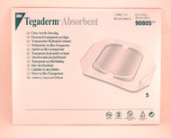 3M 90805 Tegaderm™ Absorbent Clear Acrylic Dressing Large SQUARE BX/5
