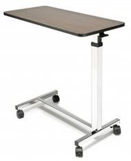 Lumex GF8900-1 Overbed Table non-tilt Economy Walnut H Base 22 lbs capacity