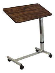 Lumex GF8905-1A Overbed Table Tilt Deluxe Walnut H Base 21 lb capacity