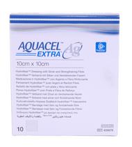 "Convatec 420676 Aquacel Ag Extra Hydrofiber Dressing with Strengthening Fiber Sterile 10cm x 10cm (4""x4"") Box/10"