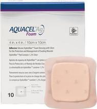 "Convatec 420681 AQUACEL Ag Foam Adhesive Dressing 4""x4"", 2.75"" x 2.75"" Pad Size BX/10 (420681) (Convatec 420681)"