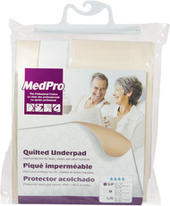 "MEDPRO 760-182 REUSABLE UNDERPAD MODERATE-HEAVY ABSORBENCY White MEDIUM 34"" X 36"" (760-182)"