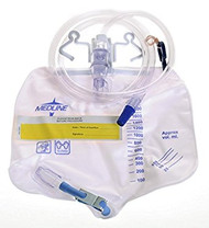 Medline DYND15210 Drainage bag, A/R Device 2000ML, MTL Clamp2-20's
