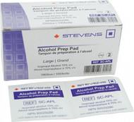 Stevens SC-APL PREP ALCOHOL LARGE STEVENS 70% ALCOHOL BX/100 P290 (001-SC-APL) 677-10-3002