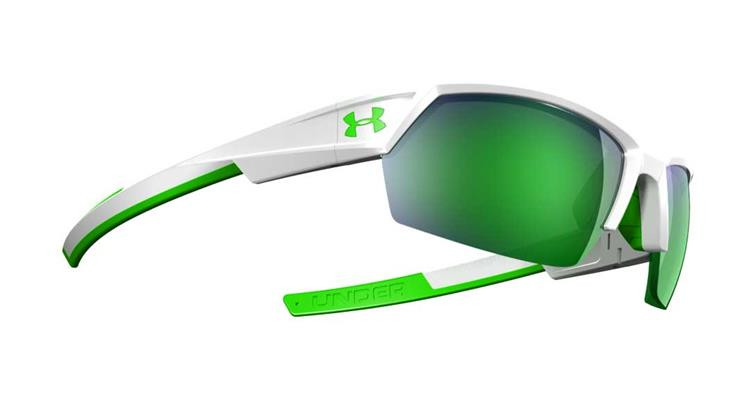 4905d84765b1 Under Armour UA Igniter II Mens Sunglasses White/Green with Mirror ...