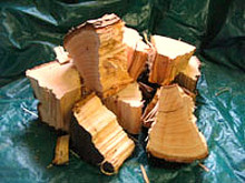 Pecan, we have it shipped in from Oklahoma. We chunk it and chip it ourselves. Pecan is one of the best woods to smoke and BBQ with.