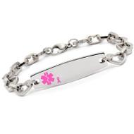 Lymphedema Alert Heart Strand Bracelet