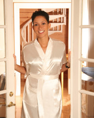 ABC923  Fitting Satin Robe
