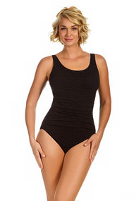 Penbrooke 70038 Empire Maillot Krinkle Mastectomty Swim Suit