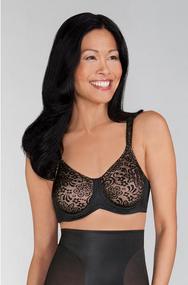 Amoena 1087 Annette Underwire Mastectomy Bra - Black / Nude