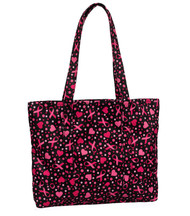 Prestige Medical 700 Ribbons and Hearts Black Tote Bag