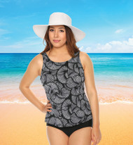 T.H.E. 32-60-740 Mastectomy Tankini Top