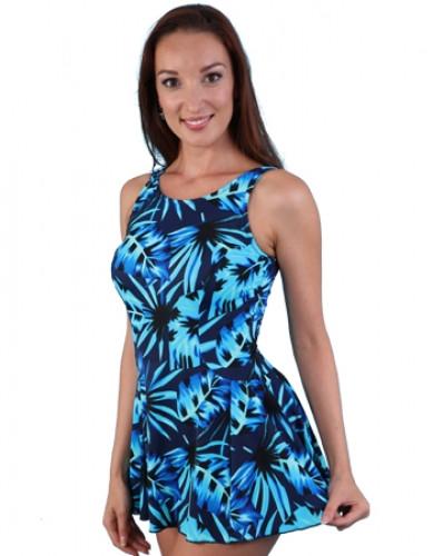 JODEE 2069/2070 BLUE MAZE MASTECTOMY SWIM DRESS