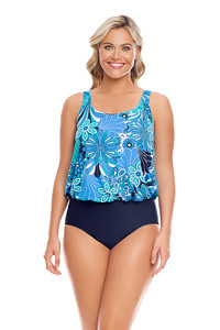 Penbrooke 5500389M Shell A Go-Go Mastectomy One Piece Blouson (FINAL SALE!!!!)