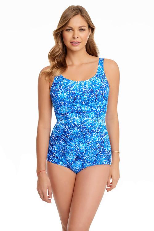 Penbrooke 5511063M Porcelain Shirred Girl Leg Mastectomy Swim Suit
