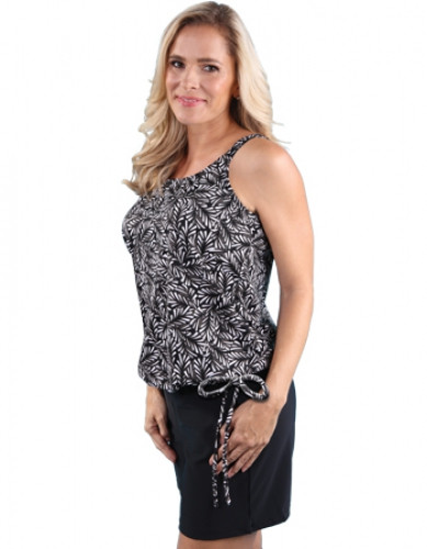 Jodee 4002/4003 Fallen Leaves Blouson Mastectomy Style Top
