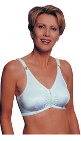 JODEE 595 ZIP FRONT with VELCRO STRAPS MASTECTOMY BRA