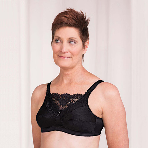 Trulife 4019 Jessica Cami Style Lace Accent  Mastectomy Bra