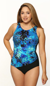 T.H.E. Mastectomy Draped Tank Swim Suit  1008-60-746/409