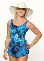 T.H.E.  Mastectomy Sarong Swim Suit 965-60-746