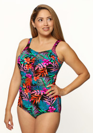 T.H.E Mastectomy Shirred Girl Leg Swimsuit 963-60-748