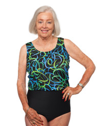 T.H.E. Mastectomy Swimsuit - Wear Your Own Bra 959-708/409 (FINAL SALE!!!!)