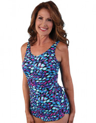 JODEE DANCING RIBBON SARONG MASTECTOMY SWIM SUIT (FINAL SALE!!!!)