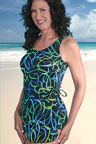 JODEE 2062  Mastectomy Swimsuit Sarong (FINAL SALE!!!!)