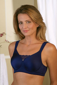 JODEE 816 SOFT AND SMOOTH Molded Seamless Midnight Blue Mastectomy Bra