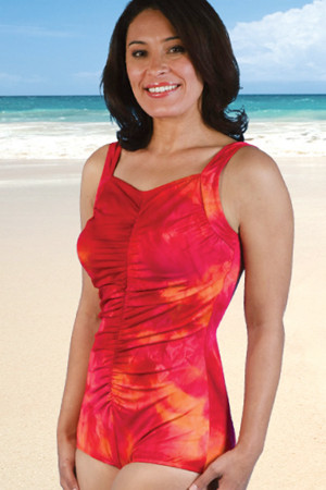 Jodee2078  Matectomy Swimsuit Coral Red Tank - (FINAL SALE!!!!)