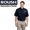 Roush Dark Navy Short Sleeve Dress Shirt (2266)