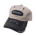 Roush Signed Frayed Gray Hat (2973)