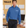 Roush Mens French Blue Tall Long Sleeve Dress Shirt (2978)