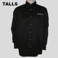 Roush Mens Black Tall Long Sleeve Dress Shirt (2979)