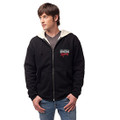 Roush Racing Mens Black Sherpa Full Zip Hoodie (3007)