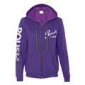 Roush Ladies Bright Purple Full Zip Hoodie (3174)