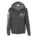 Roush Ladies Gray Full Zip Hoodie (3173)