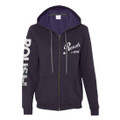 Roush Ladies Dark Purple Full Zip Hoodie (3171)