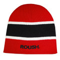 Roush Red/Black Striped Knit Hat (3224)