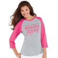 Roush Racing Pink Ladies Baseball 3/4 Sleeve Shirt (3236)
