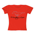 Ford Ladies Mustang Lover Red Tee (3247)
