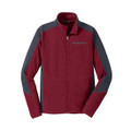 Roush Mens Red Colorblock Microfleece (3322)