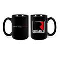 Roush Square R Black Mug (3401)