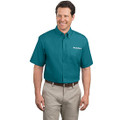Roush Mens Teal Short Sleeve Dress Shirt (3464)