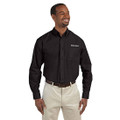Roush Mens Black Poplin Long Sleeve Dress Shirt (3471)
