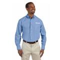 Roush Mens Blue Poplin Long Sleeve Dress Shirt (3472)
