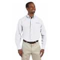 Roush Mens White Poplin Long Sleeve Dress Shirt (3473)