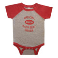 Roush Heather Gray/Vintage Red Back Seat Driver Onesie (3483)
